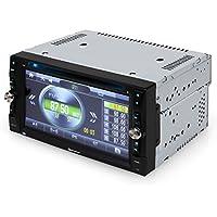"Auna MVD-481 autorradio con pantalla táctil TFT de 6,2"" (DVD, Bluetooh, USB, microSD frontal, reproductor multimedia, MP3, MP4, RDS, FM, AM, memoria para emisoras, micrófono)"