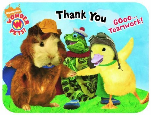 Wonder Pets Die-Cut Thank You Notes (8 Pack) by KidsPartyWorld.com