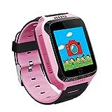 SNHWARE Kinder Uhren mit GPS Smartphone Student Positioning Watch,Pink