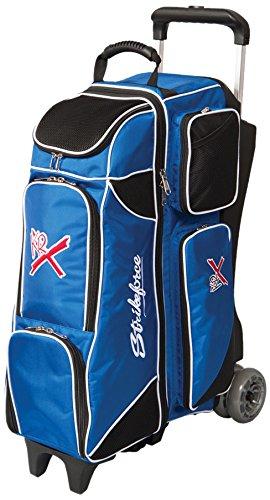 KR Unisex Strikeforce Royal Flush 4x 4Roller Bowling Bag, Royal/Schwarz, Einheitsgröße