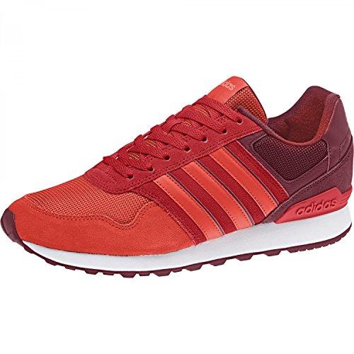adidas 10k, Scarpe da Ginnastica Uomo Multicolore (Collegiate Burgundy/Core Red S17/Solar Red)