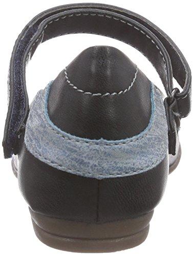 s.Oliver 42800, Ballerines fermées fille Bleu - Bleu (NAVY 805)
