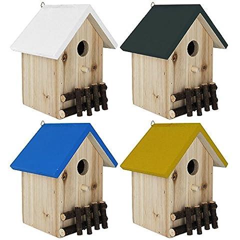 Vogelhaus 20cm buntes Dach - Nistkasten für kleine Vögel -