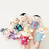 PANYTOW 6 Pcs Finger Puppet Set Soft Toy children's Learn Play Story