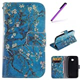 EMAXELERS Moto E 2nd Gen Case Wallet Flip with Stand