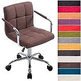 CLP Bürostuhl Lucy V2 mit Stoffbezug I Schreibtischstuhl mit Hochwertiger Polsterung I Höhenverstellbarer Bürosessel mit Leichtlaufrollen I in Verschiedenen Farben erhältlich Braun