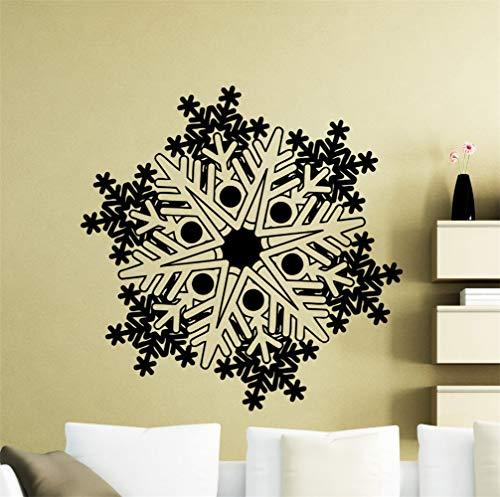 wandaufkleber 3d Wandtattoo Wohnzimmer Schneeflocke gefrorenes Winter-neues Jahr-Weihnachtsaufkleberdekor für Wohnzimmerschlafzimmer (Gefrorene Betten)