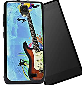ECellStreet Exclusive Printed Soft Back Case Cover Back Cover For Micromax Bolt Q333 -Guitar
