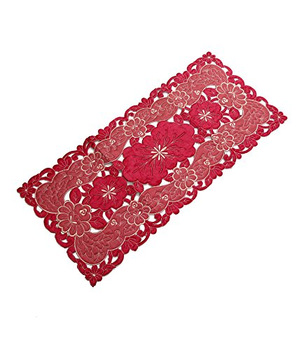 Kuber Industries Table Runner in Soft Cloth (Embroidry)