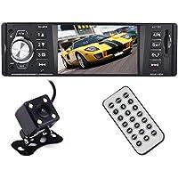 bedee Bluetooth Autoradio mit Freisprecheinrichtung, 4.1 Zoll HD Auto MP5 Player Single Din Universal Auto Radio + Rückfahrkamera für Reversing Unterstützung USB/AUX/SD und iOS Android Controll