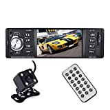 bedee Bluetooth Autoradio mit Freisprecheinrichtung, 4.1 Zoll HD Auto MP5 Player Single Din Universal Auto Radio + Rückfahrkamera für Reversing Unterstützung USB/AUX/SD und iOS Android Controll