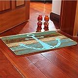 BESTOMZ Non Slip Floor Mat Door Mat Front Door Rug Bathroom Mat (Flannel)