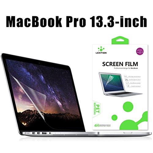 """LENTION Antikratzerverstärkter Displayschutzfolie für MacBook Pro (13"""", Mitte 2010 bis Mitte 2012) Modell-A1278, LENTION HD Displayschutzfolie für Apple Laptop, 4H Härte, Einfach Anzubringen"""