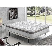 Living Sofa COLCHÓN VISCOELASTICO VISCOELASTICA Premium Acolchado con Hilo DE Plata ANTIESTÁTICO 150 x 190 (