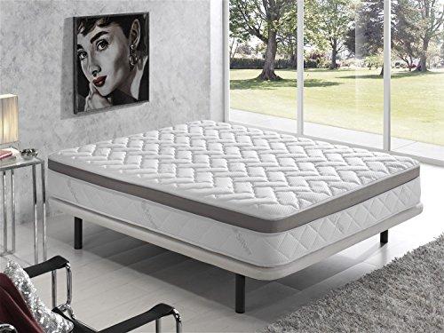 Living Sofa COLCHÓN VISCOELASTICO VISCOELASTICA Premium Acolchado con Hilo DE Plata ANTIESTÁTICO 150 x 190 (Todas Las Medidas)