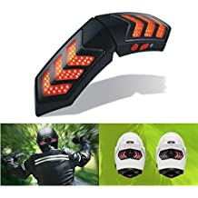 Alamor 12V Wireless Smart Motorcycle casco luces W/USB carga Casque freno señal lámparas impermeables