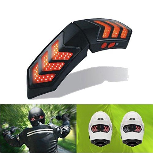 Wooya Feux De Casque Moto Intelligent sans Fil 12V W/Casque Frein Signal Lampes Waterproof De Chargement USB