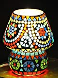 Giftwallas Glass Table Lamp ( Multi, 15 ...