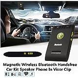 AUDEW Kit-voiture Mains-libres Bluetooth Pour Pare-soleil Support Musique, Kit Mains-libres et Enceinte Sans Fil Pour Téléphones Mobiles