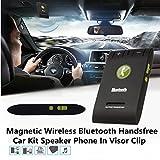 Audew Kit Veicolare Vivavoce Bluetooth 4.0 + Caricabatterie da Auto. Vivavoce da Parasole per Dispositivi Smartphone