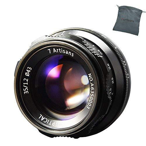 7 Artisans 35 mm F1.2 Manuel Focus Lens APS-C Fit for Compact Mirrorless Cameras Fuji X-A1 X-A10 X-A2 X-A3 A-at X-M1 XM2 X-T1 X-T10 X-T2 X-T20 X-Pro1 X-Pro2 X-E1 X-E2 E-E2s X-E3