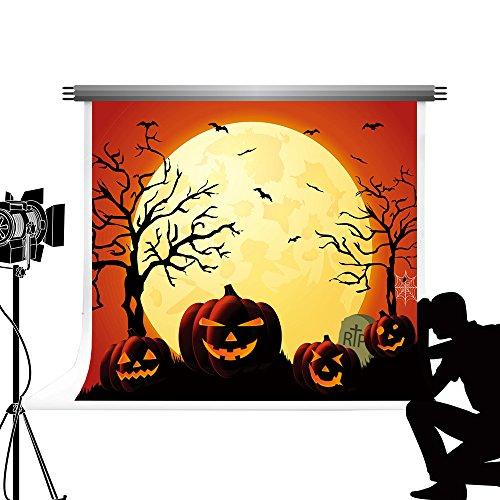 Hintergrund Night Moon fototermin pumpki Laterne Hintergrund für Kinder Fotografie 7 x 5ft/2.2x1.5m ()