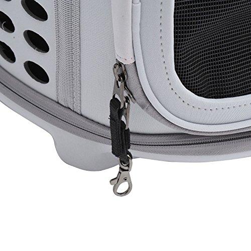 PawHut D1-0166 Transporttasche für Tiere, lichtgrau - 8