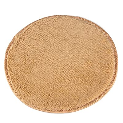 FLORATA Khaki Round Cotton Tufted Rug 40cm Circular Children Room Nursery or Interior Rugs - cheap UK light store.