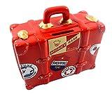 Valigia da viaggio salvadanaio rosso-Collection, il design di questo salvadanaio si distingue per un design leggermente diverso in. Il salvadanaio è in forma di una valigia di. Questo box di risparmio è molto bello e è richiudibile. Sul lat...