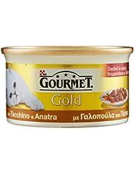 Gourmet Gold Gatto Dadini in Salsa con Tacchino e Anatra, 85 g - Confezione da 24 Pezzi