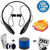 Hatch Mobile Wireless Bluetooth Sport Headset With Call Functions With 3 In 1 Cell Phone Camera Lens Kit - Fish Eye Lens / 2 In 1 Macro Lens & Wide Angle & Bluetooth Wireless Speaker (S10) Suitable With All Android Or Iphone Devices (1 Year Warran