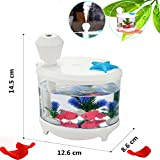 HOPESOOKY 460ML Cool Mist Humidifier Purifier Portable USB Fish Tank Air Purifier 7-Color LED ...