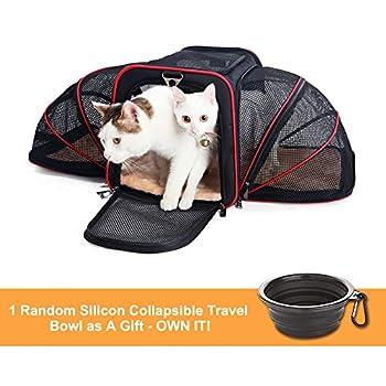 La Gracery Stretchable Pet Transport für kleine Hunde, Katzen, Kätzchen und Welpen - Zwei seitliche faltbare Erweiterungshülle für Haustiere