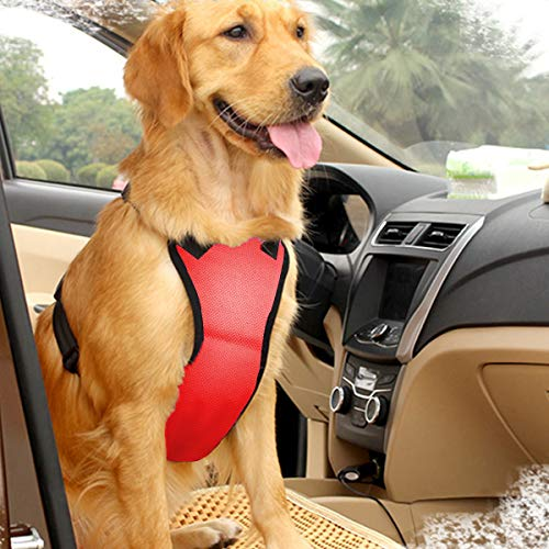East-bird cane sicurezza gilet imbracatura con cintura di sicurezza per presa, viaggio tracolla gilet con seggiolino auto cintura guinzaglio regolabile leggero e confortevole