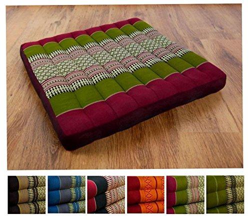 Kapok Sitzkissen 50cm x 50cm, Outdoorkissen der Marke Asia Wohnstudio, Gartenbankauflage,...