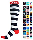 Compression Socks (1 pair) for Women & Men by A-Swift - Graduated Athletic