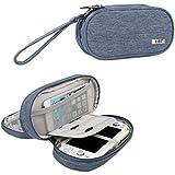 BUBM Doble Capas Funda Protectora para Sony PlayStation Vita 2000 Nylon Impermeable Resistente a los Arañazos Bolsa de Transporte (Azul)