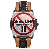 Diesel Uhrband Wechselarmband LB-DZ1600 Original Ersatzband DZ 1600 Uhrenarmband Leder 27 mm Braun