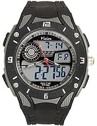 Vizion Black Dial Analog-Digital Dual Time GREYShade Watch For Men-8013057AD-2