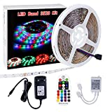 LED Streifen 3528 Sparke 10m 600led RGB LED Lichtband mit Netzteil 12V und Fernbedienung LED Strip tripes Stripe Dekoration Beleuchtung für Haus Küche Weihnachtsfest Hochzeit