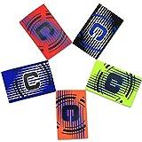 cjixnji Fußball Captain Armband, Fußball Elastic Armband,Klettverschluss für verstellbare Größe, geeignet für mehrere Sportarten wie Fußball & Rugby, grün (5 Stück)
