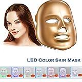 Havenfly [nueva versión 2018] LED terapia de fotones 7 color luz tratamiento piel rejuvenecimiento blanqueamiento facial belleza diaria cuidado de la piel máscara (de oro)