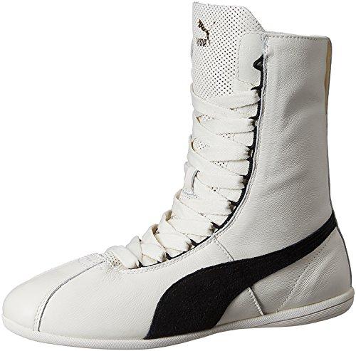 Puma  Eskiva Hi,  Damen Sneaker , Weiß - Weiß - Blanc (Whisper White/Black) - Größe: 37