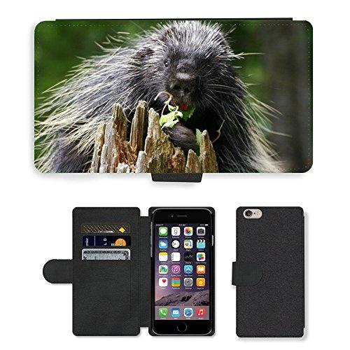 Just Mobile pour Hot Style Téléphone portable étui portefeuille en cuir PU avec fente pour carte//m00139344Animaux Alaska Wildlife//Apple iPhone 6Plus 14cm