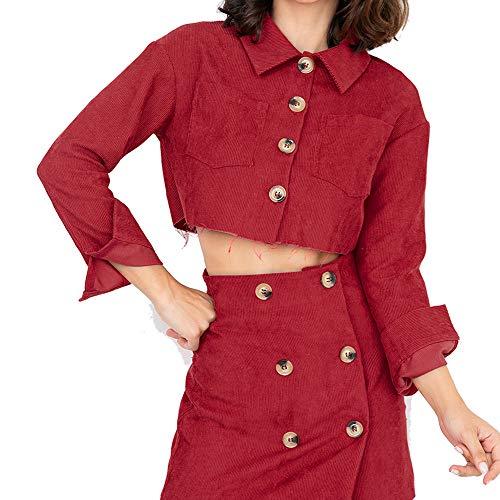 Sunnyuk Damen mäntel tailliert ausgestellt jacken mit Taschen Hipster Jacket mit Filz für mädchen   Young Vogue   Herbst frühjahr