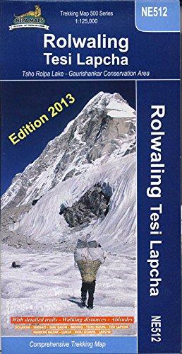 Rolwaling Himal: Gaurisankar - Tesi Lapcha (Nepa Trekking Maps)