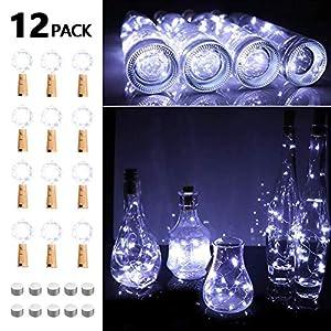 Opard Flaschenlicht 10x 20 LED Flaschen-Licht Lichterkette flaschenlichterkette korken LED Nacht Licht Weinflasche…