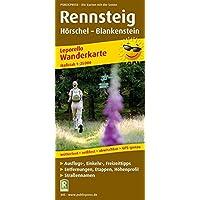 Rennsteig, Hörschel - Blankenstein: Leporello Wanderkarte mit Ausflugszielen, Einkehr- & Freizeittipps, wetterfest…
