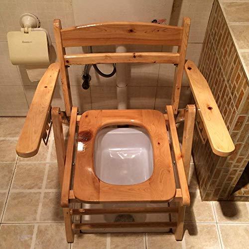 WFFH Faltbare Toilette Mobiler Stuhl/Duschstuhl, Toilettenstuhl, Anti-Rutsch-Klappbewegung, Duschstuhl, Duschstuhl, Älteres Schwangeres Frauen-Behinderten-Badezimmer-Haus - Mobiler Duschstuhl