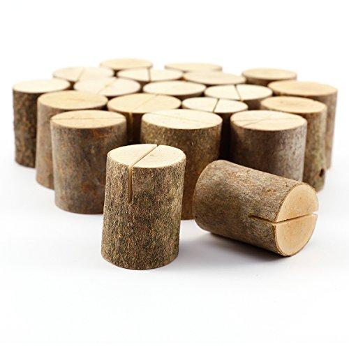 Surepromise 20er Holz Holzsteg Kartenhalter Platzkarte Tischkartenhalter Namesschild Hochzeit